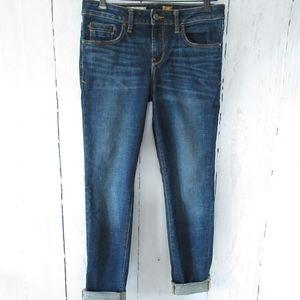 Pilcro Stet Skinny Jeans Dark Distressed Ankle
